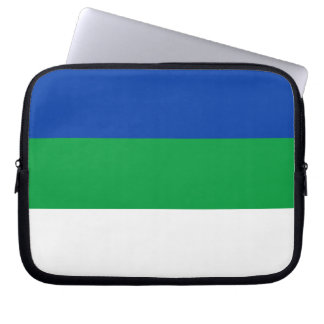 De Vlag van de Komi-Republiek Computer Sleeve Hoesjes