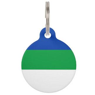 De Vlag van de Komi-Republiek Huisdierpenning