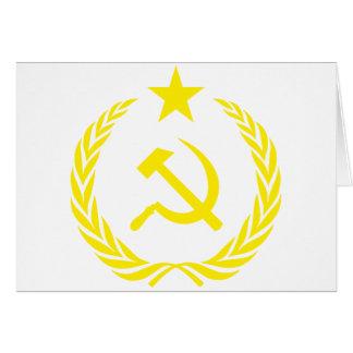 De Vlag van de Koude oorlog van Communiste Kaart
