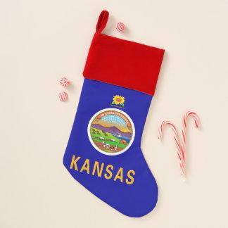 De Vlag van de Kousen van Kerstmis van Kansas, de Kerstsok