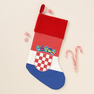 De Vlag van de Kousen van Kerstmis van Kroatië Kerstsok
