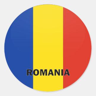 De Vlag van de kwaliteit van Roemenië Roundel Ronde Sticker