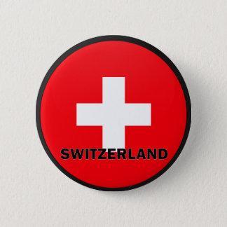 De Vlag van de kwaliteit van Zwitserland Roundel Ronde Button 5,7 Cm