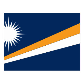 De Vlag van de Marshall Eilanden Briefkaart