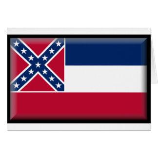 De Vlag van de Mississippi Wenskaart