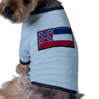 De Vlag van de Mississippi Huisdieren Shirt