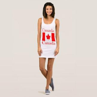 De Vlag van de Naam van Canada Mouwloze Jurk