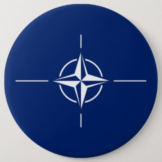 De Vlag van de NAVO Ronde Button 6,0 Cm