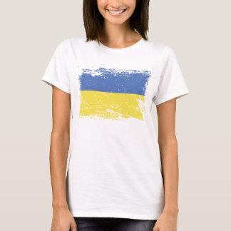 De Vlag van de Oekraïne van Grunge T Shirt