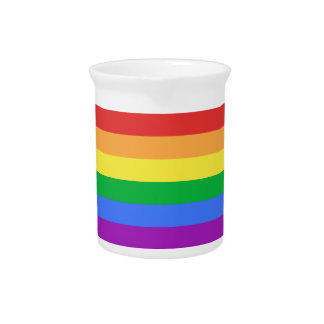 De Vlag van de regenboog Bier Pitchers