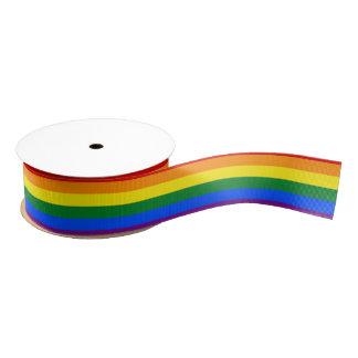 De Vlag van de regenboog Grosgrain Lint