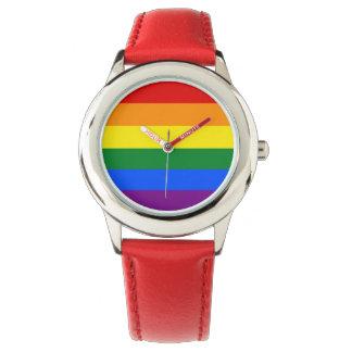De Vlag van de regenboog Polshorloge