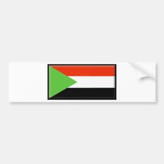 De Vlag van de Soedan Bumpersticker
