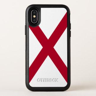 De Vlag van de Staat van Alabama OtterBox Symmetry iPhone X Hoesje
