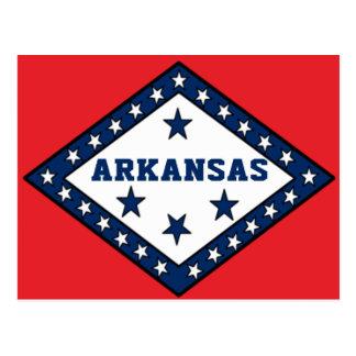 De Vlag van de Staat van Arkansas Briefkaart