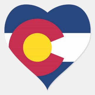 De Vlag van de Staat van Colorado Hart Sticker