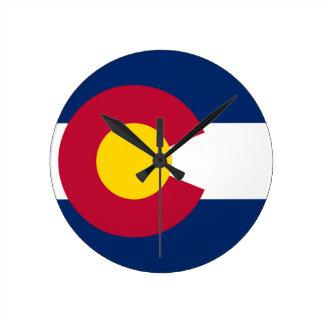 De Vlag van de Staat van Colorado Ronde Klok