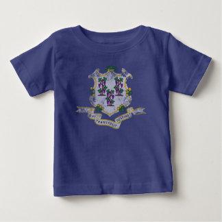 De Vlag van de staat van Connecticut Baby T Shirts