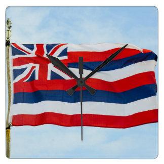 De Vlag van de Staat van Hawaï Vierkante Klok