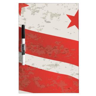 De Vlag van de Staat van het Washington DC Whiteboards
