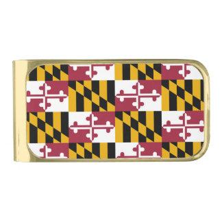 De Vlag van de Staat van Maryland Vergulde Geldclip