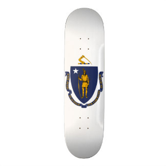 De Vlag van de Staat van Massachusetts 21,6 Cm Old School Skateboard Deck