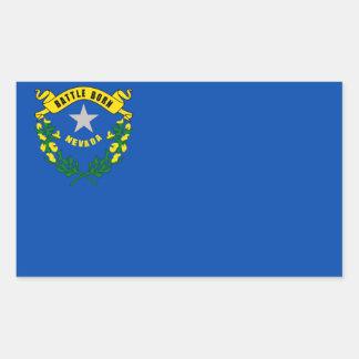 De vlag van de Staat van Nevada Rechthoekige Sticker