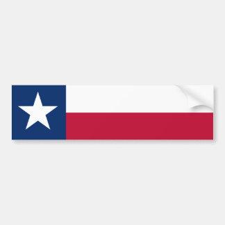De Vlag van de Staat van Texas Bumpersticker