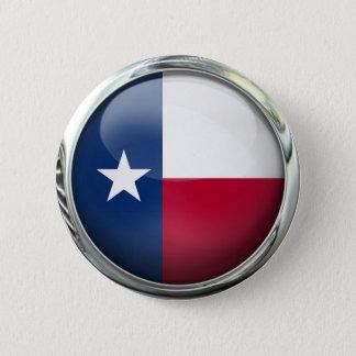 De Vlag van de Staat van Texas om de Bal van het Ronde Button 5,7 Cm