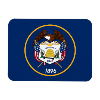 De Vlag van de Staat van Utah Magneet
