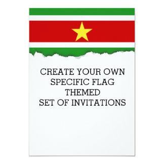De Vlag van de Suriname Kaart