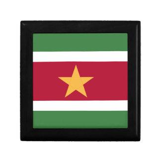 De vlag van de Suriname Vierkant Opbergdoosje Small
