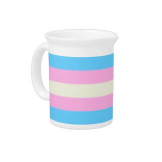 De Vlag van de Trots van de Transsexueel van Falln Drank Pitcher