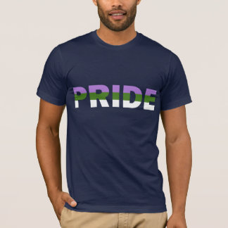 De Vlag van de Trots van Genderqueer T Shirt