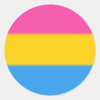 De Vlag van de Trots van Pansexual van Falln Ronde Sticker