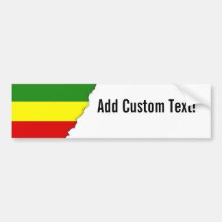 De Vlag van de Trots van Rastafarian Bumpersticker