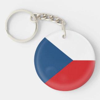 De vlag van de Tsjechische Republiek van de Sleutelhanger