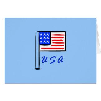 De Vlag van de V.S. Notitiekaart