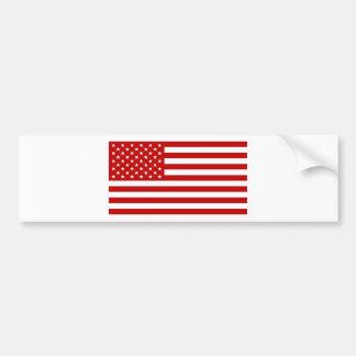 De Vlag van de V.S. - Rode Stencil Bumpersticker