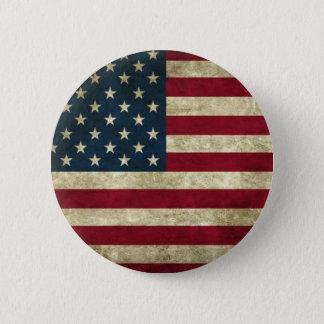 De Vlag van de V.S. van Grunge Ronde Button 5,7 Cm