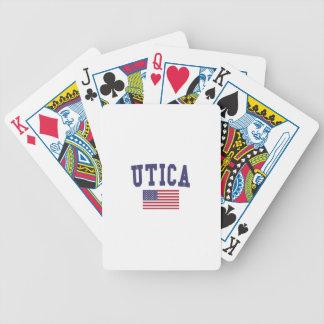 De Vlag van de V.S. van Utica Bicycle Speelkaarten
