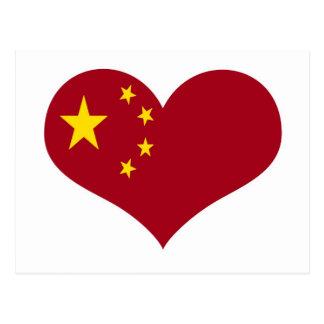 De vlag van de Volksrepubliek China Briefkaart