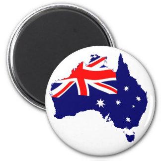 De Vlag van de Vorm van Australië Magneet