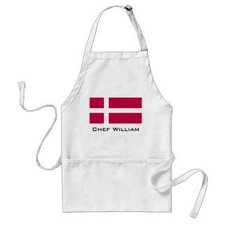 De Vlag van Denemarken Standaard Schort