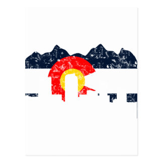 De Vlag van Denver Colorado Briefkaart