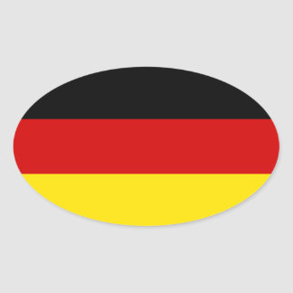 De vlag van Duitsland Ovale Sticker