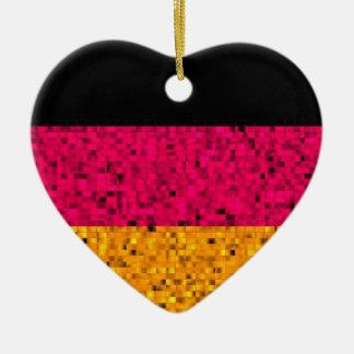 De Vlag van Duitsland schittert ornament
