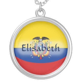 De Vlag van Ecuador + Het Ketting van de naam