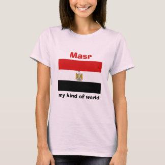 De Vlag van Egypte + Kaart + De T-shirt van de