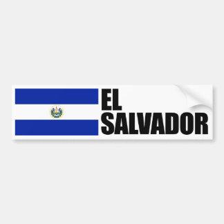 De Vlag van El Salvador Bumpersticker